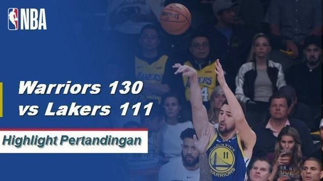Klay Thompson mencetak rekor NBA dengan menyambungkan 10 lemparan tiga angka pertamanya, berakhir dengan 44 poin.