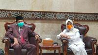 Ketua Komite III DPD RI Sylviana Murni dalam sebuah kesempatan berdialog bersama Imam Besar Masjid Istiqlal KH Prof. Dr. Nasarudin Umar. (Foto:Dok.DPD RI)