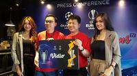 Vidio secara resmi mengumumkan sebagai Official Online Broadcaster Liga Champions dan Liga Europa 2019-2020 dan akan menyiarkan 343 pertandingan secara live streaming. (Bola.com/Zulfirdaus Harahap)