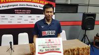 PB Jaya Raya menggelontorkan bonus dengan nilai beragam untuk para atletnya yang berprestasi di Kejuaraan Dunia Bulutangkis 2019. (Bola.com/Zulfirdaus Harahap)