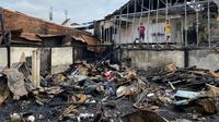 Lokasi kebakaran di dekat Pasar Gubah Palembang Sumsel (Dok. Humas Pemprov Sumsel / Nefri Inge)
