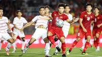 Ha Duc Chinh (nomor 9), penyerang Timnas Vietnam U-22 di SEA Games 2019. (Bola.com/Dok. AFF)