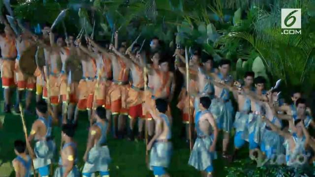 Tari kolosal bertemakan 'Zamrud Khatulistiwa' mempercantik pembukaan Asian Games 2018. Penampilan tersebut disempurnakan para penyanyi yang membawakan lagu dari seluruh daerah di Tanah Air.