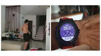 Pria ini olahraga lari dengan menempuh jarak 263 km dii dalam rumahnya. (Sumber: World of Buzz)