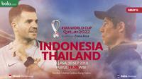 Kualifikasi Piala Dunia 2022 - Indonesia Vs Thailand - Duel Pelatih Simon McMenemy Vs Akira Nishino (Bola.com/Adreanus Titus)