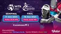 Link Live Streaming WTA 250 Hungarian Grand Prix Babak Final di Vidio 17-18 Juli 2021. (Sumber : dok. vidio.com)