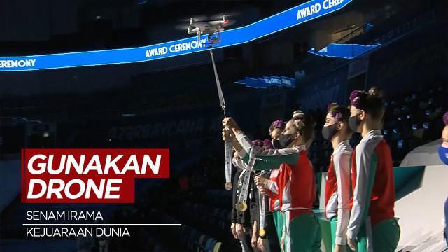 Berita Video Unik, Drone Dipakai untuk Penyerahan Medali Kejuaraan Dunia Senam Irama di Baku