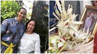 Momen Ade Rai dan keluarga lakukan kremasi hingga larung abu mendiang ibu ke laut. (Sumber: Instagram/ayutresnaekadewi)