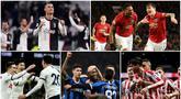 Berikut ini daftar klub raksasa Eropa yang ternyata terlilit utang besar. Diantaranya, Manchester United, Atletico Madrid hingga Juventus. (Kolase Foto-foto AP/AFP)