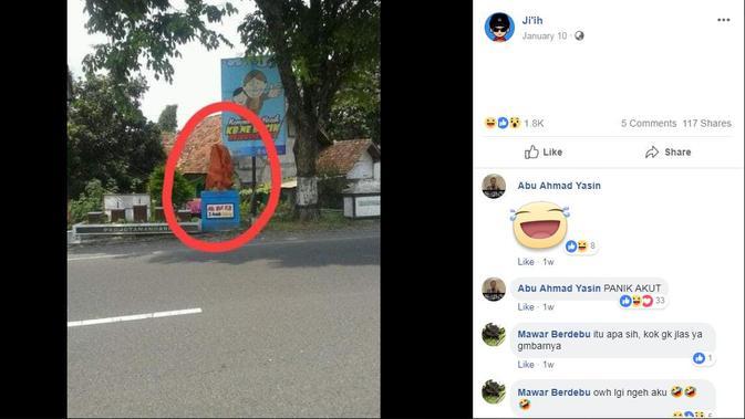 [Cek Fakta] Muncul Tugu Simbol Angka 2 Jari, Satu Kampung Dukung Salah Satu Paslon Pilpres 2019?