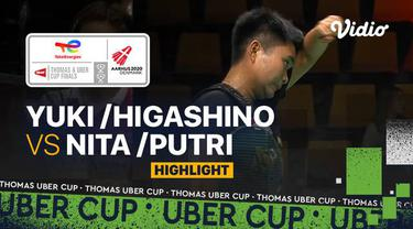 Berita Video, Highlights Pertandingan Piala Uber 2020 antara Indonesia Vs Jepang pada Selasa (12/10/2021)