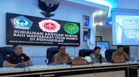 Wakil Wali Kota Bitung Ir. Maurits Mantiri, MM menghadiriSosialisasi Bantuan Hukum Bagi Masyarakat Kurang Mampu