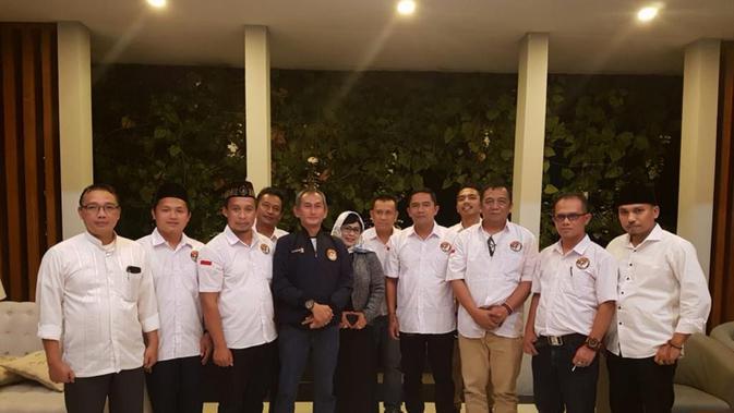 Satgas 01 Penguatan Nasional Maruf Amin di Garut (Liputan6.com/Jayadi Supriadin)