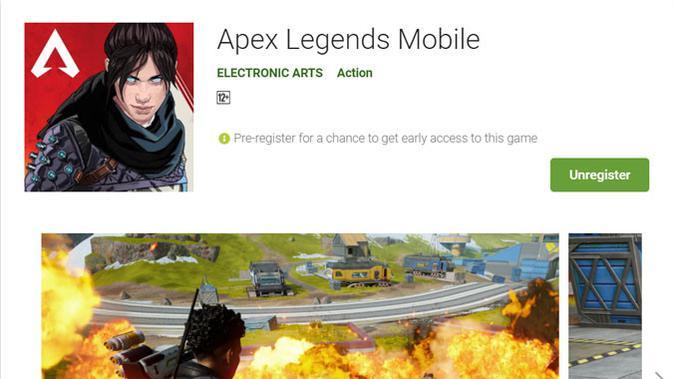 Apex Legends Mobile sudah muncul di Google Play Store. (Doc: Google Play Store)