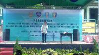 Peresmian pemanfaatan Pangkalan Udara TNI AD Gatot Soebroto Lampung sebagai Bandara UDara Sipil oleh Menteri Perhubungan Budi Karya Sumadi, Sabtu (6/4/2019).
