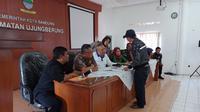 Aparat kewilayahan Ujungberung menggelar musyawarah di Kantor Kecamatan Ujungberung