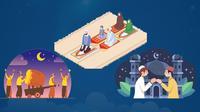 Banner Infografis Kegiatan Dilarang dan Dibolehkan Saat Perayaan Idul Fitri 1442 H / 2021. (Liputan6.com/Trieyasni)