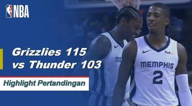 Memphis mengalahkan Oklahoma City di belakang 24 poin tertinggi dalam karir dari Bruno Caboclo.