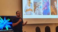 M.Taufiq Furqan, Product Marketing Samsung Electronics Indonesia saat presentasi di Workshop Samsung Galaxy Note 10 di Seoul, Korea Selatan. Liputan6.com/Agustinus Mario Damar