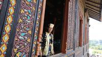 Agus Harimurti Yudhoyono (AHY) saat berkunjung ke Istano Basa Pagaruyung, kabupaten Tanah Datar, Sumatera Barat. foto: istimewa