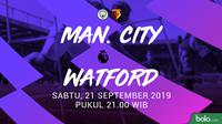Premier League - Manchester City Vs Watford (Bola.com/Adreanus Titus)