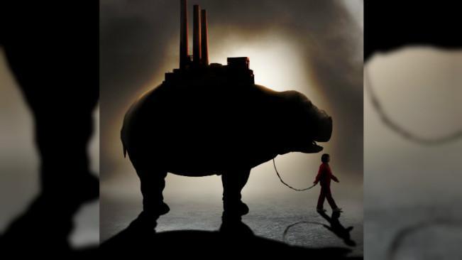 Okja adalah karakter hewan dalam suatu film Korea Selatan. Ia digambarkan sebagai babi super yang merupakan hasil pembiakan untuk keperluan pertandingan. (Sumber Twitter/@OKJAnetflix)