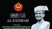 Pangeran Abdul Azim dari Brunei Darussalam meninggal dunia pada 24 Oktober 2020 (Instagram)