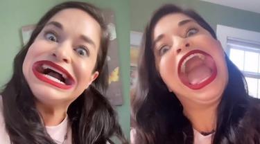 Perempuan AS Raih Rekor Dunia Guinness untuk Mulut Terbesar