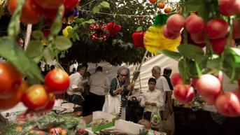 FOTO: Umat Yahudi Yerusalem Bersiap Menyambut Hari Raya Sukkot