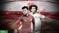 Duel Pemain Kualifikasi Piala Dunia 2022: UEA vs Indonesia, Omar Abdulrahman dan Stefano Lilipaly. (Bola.com/Dody Iryawan)
