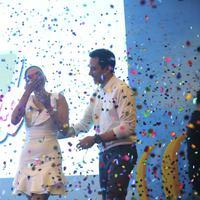 Donna Agnesia dan Darius Sinathrya (Busan/Kapanlagi.com)