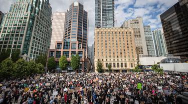 Demo Kematian George FLoyd Masih Berlanjut di AS