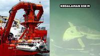 6 Foto MV Swift Rescue saat Pencarian KRI Nanggala 402, Berhasil Deteksi di Kedalaman 838 Meter (sumber: Indonesian Navy AP Twitter/benjohn65)