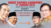 Segmen II Debat Perdana Capres-Cawapres 2019. (Liputan6.com/Triyasni)