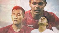 Timnas Indonesia - Bek Timnas Indonesia yang Terlupakan: Putu Gede, Hansamu Yama, Rezaldi Hehanussa (Bola.com/Adreanus Titus)