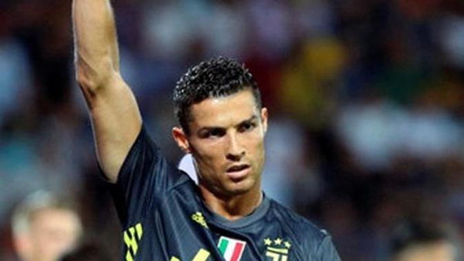 Penyerang Juventus, Cristiano Ronaldo. (Federico Proietti/ANSA via AP)