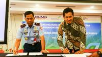 Angkasa Pura I dan TNI Angkatan Udara tandatangani kesepakatan dan perjanjian kerja sama.