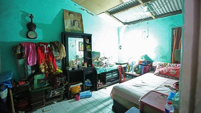 Suasana rumah duka Laila Sari (Bambang E. Ros/bintang.com)