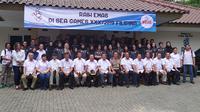 Timnas voli Indonesia bersiap menyambut SEA Games 2019. (Liputan6.com/Achmad Sudarno)