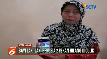 Seorang ibu warga Kota Depok, Jawa Barat, Jumat pagi kehilangan bayinya yang baru berusia 2 pekan.