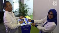 Menteri Komunikasi dam Informatika RI, Rudiantara dan Presdir & CEO XL Axiata, Dian Siswarini dalam acara Uji Coba Teknologi 5G dan Fiberisasi Jaringan di Jakarta, Rabu (21/8/2019). (Liputan6.com/Angga Yuniar)