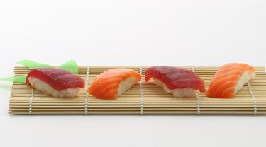 Ilustrasi ikan tuna dan salmon