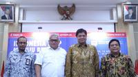 Dirjen Pembinaan Pelatihan dan Produktivitas (Binalattas) Bambang Satrio Lelono dalam dialog interaktif Forum Merdeka Barat9 di kantor Kementerian Komunikasi dan Informasi Jakarta