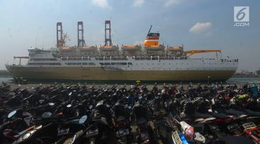 Ribuan Peserta Ikuti Mudik Gratis Kemenhub dengan Kapal Laut