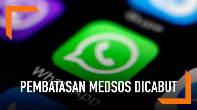 Kementerian Komunikasi dan Informatika (Kominfo) resmi mencabut pembatasan penggunaan media sosial pasca-aksi 22 Mei lalu.