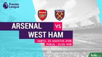 Premier League 2018-2019 Arsenal Vs West Ham United (Bola.com/Adreanus Titus)