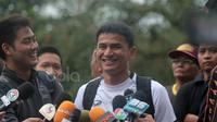 Pelatih Thailand Kiatisuk Senamuang memberikan saat memberikan press conference di Lapangan Sekolah Pelita Harapan, Sentul, (12/12/2016). (Bola.com/Nicklas Hanoatubun)