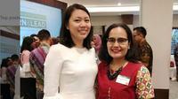 Belinda Tanoto (kiri) masuk daftar Sosok Paling Dermawan se-Asia 2019. (dok.Instagram @marrisagirsang/https://www.instagram.com/p/BwI5Y-jlc3Z/Henry)