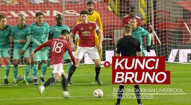 Berita video kunci kesuksesan Bruno Fernandes bisa mengantarkan Manchester United menyingkirkan Liverpool dari Piala FA 2020/2021.