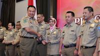 Hery Sudarmanto saat mewakili Menteri Ketenagakerjaan RI membuka Rapat Koordinasi Nasional (Rakornas) Pengawasan Ketenagakerjaan Tahun 2018 di Jakarta.